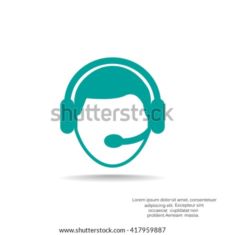 operator in touch Web icon. vector design - stock vector