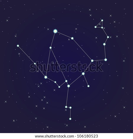 Ophiuchus constellation - stock vector