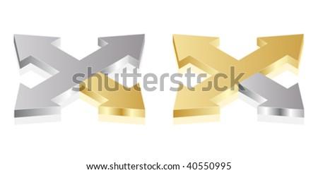 Opposite arrow vector illustration - stock vector