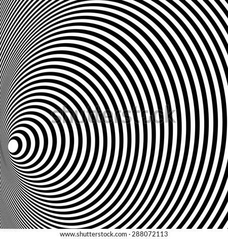Opt Art Illustration for your design. Optical Illusion. Abstract background. Use for cards, invitation, wallpapers, pattern fills, web pages elements and etc. - stock vector
