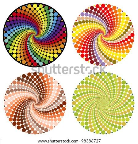 Optical illusion - stock vector