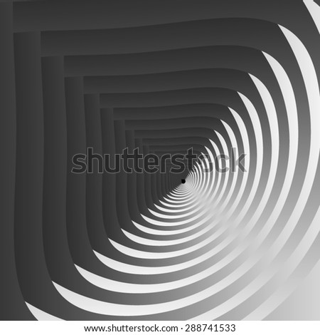Optical illusion. Black and white illusion of speed, divided into light and dark areas. - stock vector