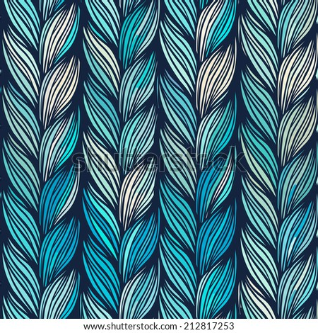 Optical illusion: Multicolor abstract seamless pattern. Texture of wavy vertical stripes. Stylish abstract vector background.  - stock vector