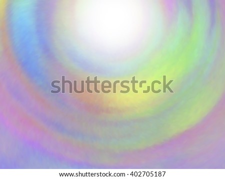 Optical illusion of radial blur effect. Abstract background with iridescent mesh gradient. Colorful noise, special effect. Colorful shades. Visual illusion of oil paintings. Vector EPS10 - stock vector