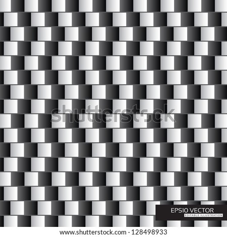 Optical illusion - parallel lines made from black and white pillows | EPS10 Vector Illustration - stock vector