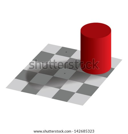 optical illusion same color - stock vector