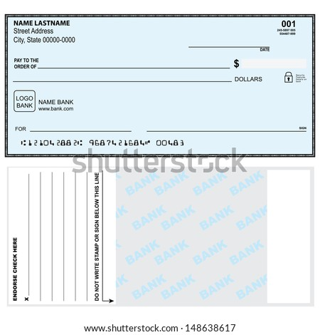 Option check first and second page. Vector illustration. - stock vector