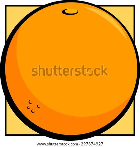 orange - stock vector