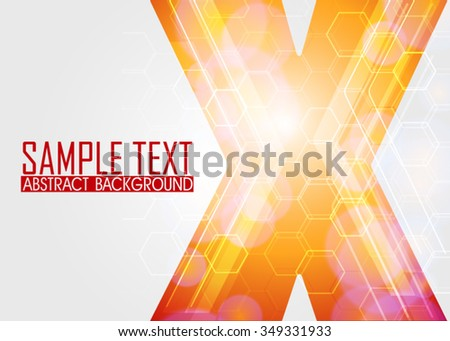 Orange abstract background illustration. Template for business card or banner  - stock vector