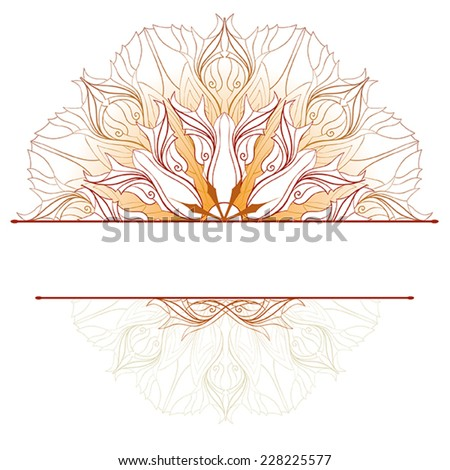 Orange, abstract pattern.  - stock vector