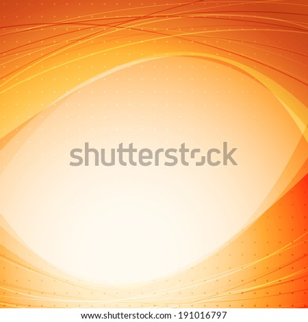 Orange abstract solar background template. Vector illustration - stock vector