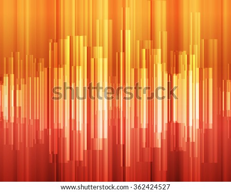 Orange abstract technology glowing energy vector background concept illustration - stock vector