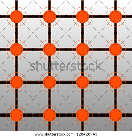 Orange and Black Pattern on Graded Background - stock vector