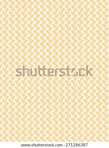 Orange and white line pattern over cream color background - stock vector