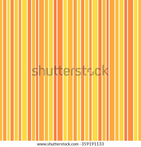 Orange and yellow stripes seamless pattern - stock vector