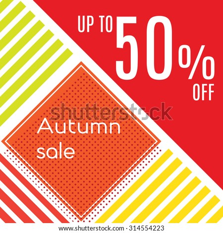 Orange autumn special sale vintage vector typography poster  - stock vector