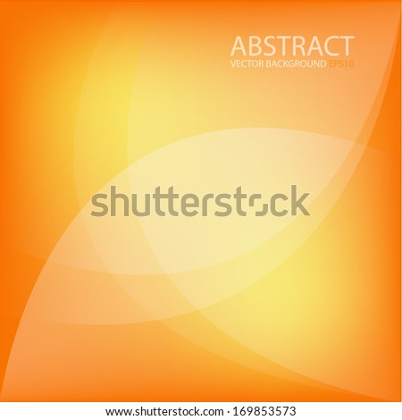 Orange background vector art background eps10 frame abstract for design pattern message board for modern website - stock vector
