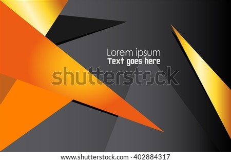 Orange background vector infographic information graphic for message and text design  - stock vector