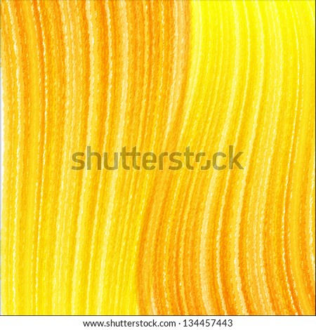 Orange background with scribbled waved stripes. Vector illustration - stock vector