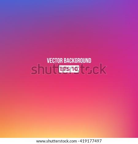 Orange, blue, purple, pink blur gradient. Vector, eps10. - stock vector