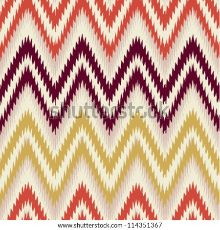 Orange brown and yellow seamless chevron background pattern - stock vector
