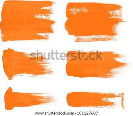 orange brush strokes - the perfect backdrop for your text - stock vector