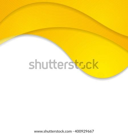 Orange corporate wavy background. Vector waves bright graphic design - stock vector