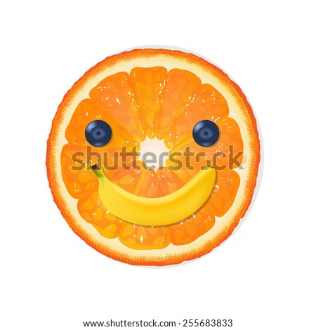 Orange Diet Illustration With Gradient Mesh, Vector Illustration - stock vector