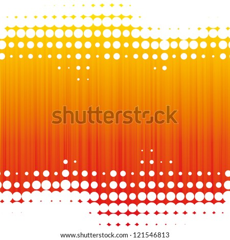 Orange dot background - stock vector