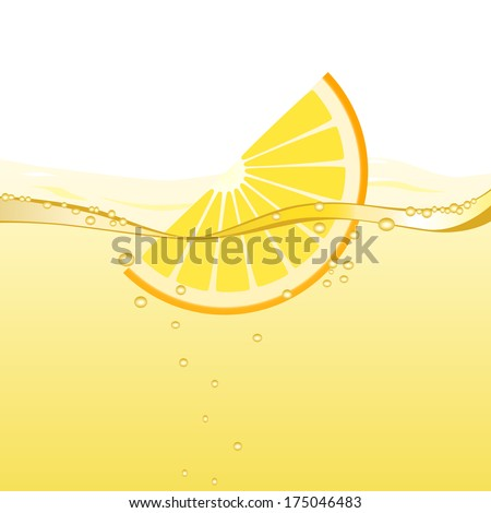 Orange drink (vector version; available as raster too) - stock vector