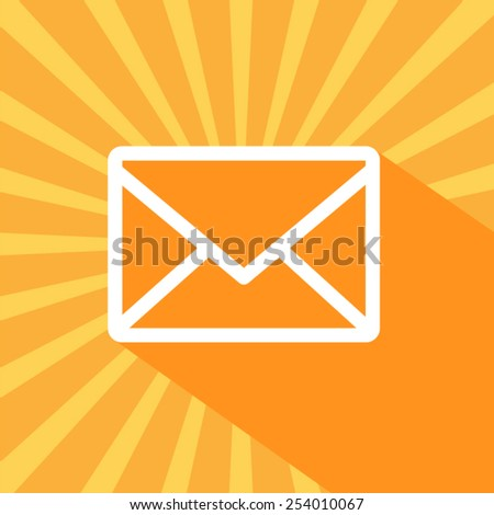 Orange email icon Vector EPS 10 illustration. - stock vector
