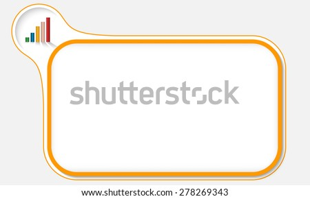 Orange frame for your text and graph - stock vector