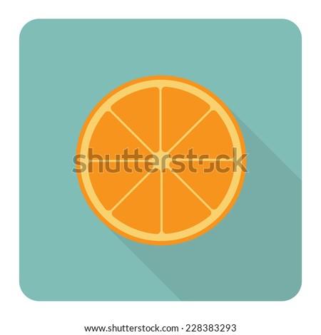 Orange fruit. Vector illustration. - stock vector