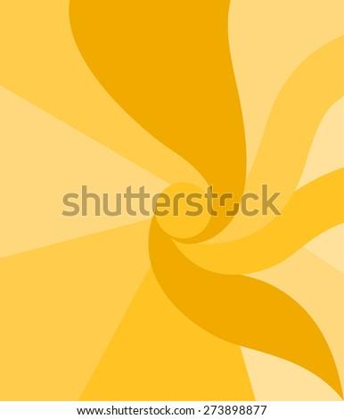 Orange geometric sun background - stock vector