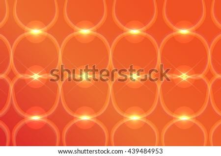 Orange gradient background abstraction light line - stock vector