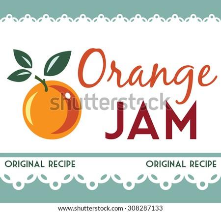 orange jam - stock vector