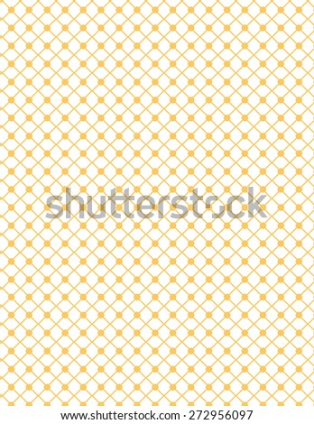 Orange line circle pattern over white color background - stock vector