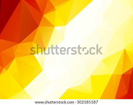 Orange metallic copper triangular background - stock vector
