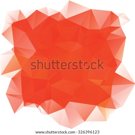 Orange Polygonal Mosaic Background. Vector illustration, Creative Business Design Templates - stock vector