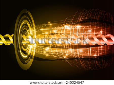 orange red color abstract technology background for for computer graphic website internet and business - stock vector
