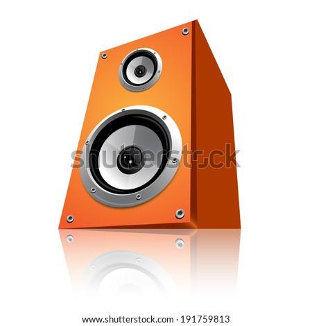 Orange speaker  - stock vector