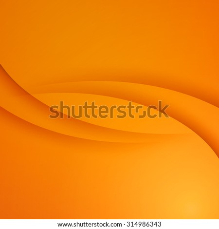 Orange  vector Template Abstract background with curves lines and shadow. For flyer, brochure, booklet and websites design - stock vector