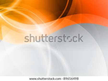 orange wave on the abstract background - stock vector