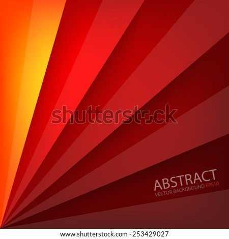 Orange yellow and red vector background beam square overlap layer paper and space for text and message artwork website design - stock vector