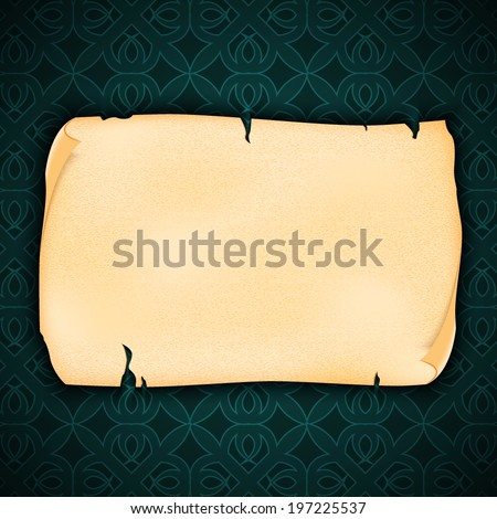 Orante background with old paper. EPS10 vector - stock vector
