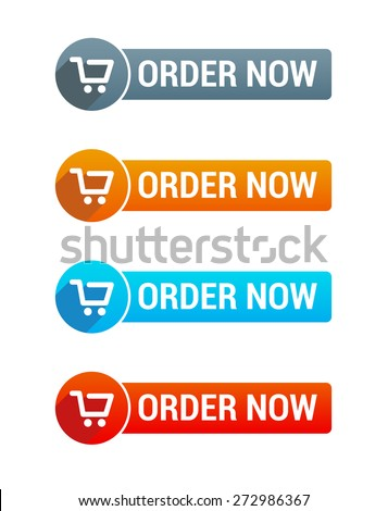 Order Now Buttons - stock vector
