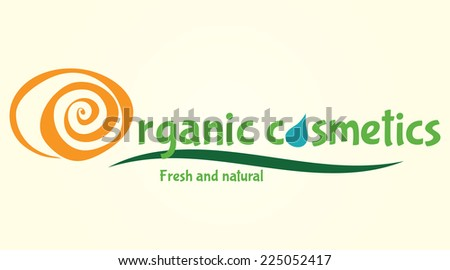 Organic cosmetic logo. Vector illustration in EPS10.  - stock vector