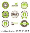Organic Eco Badges - stock vector