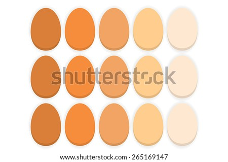Organic eggs on the white background - stock vector