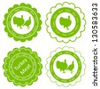 Organic farm and forest turkey meat food labels illustration collection - stock vector